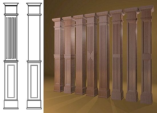 Interior decorative columns decorative columns interior for Columns in houses interior