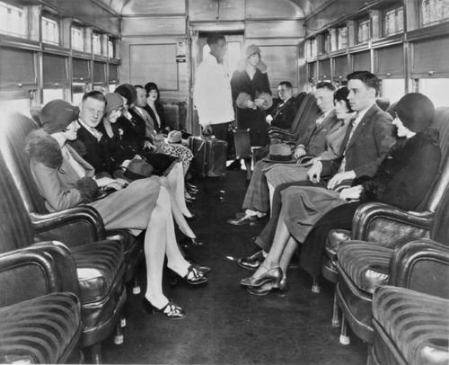 losangelespast:  Swells take their ease in a Pacific Electric Railway Parlor Car, Los Angeles, circa 1925.