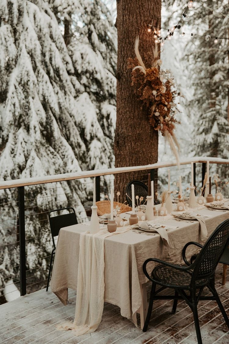 Photo of Earth Tone Winter Elopement