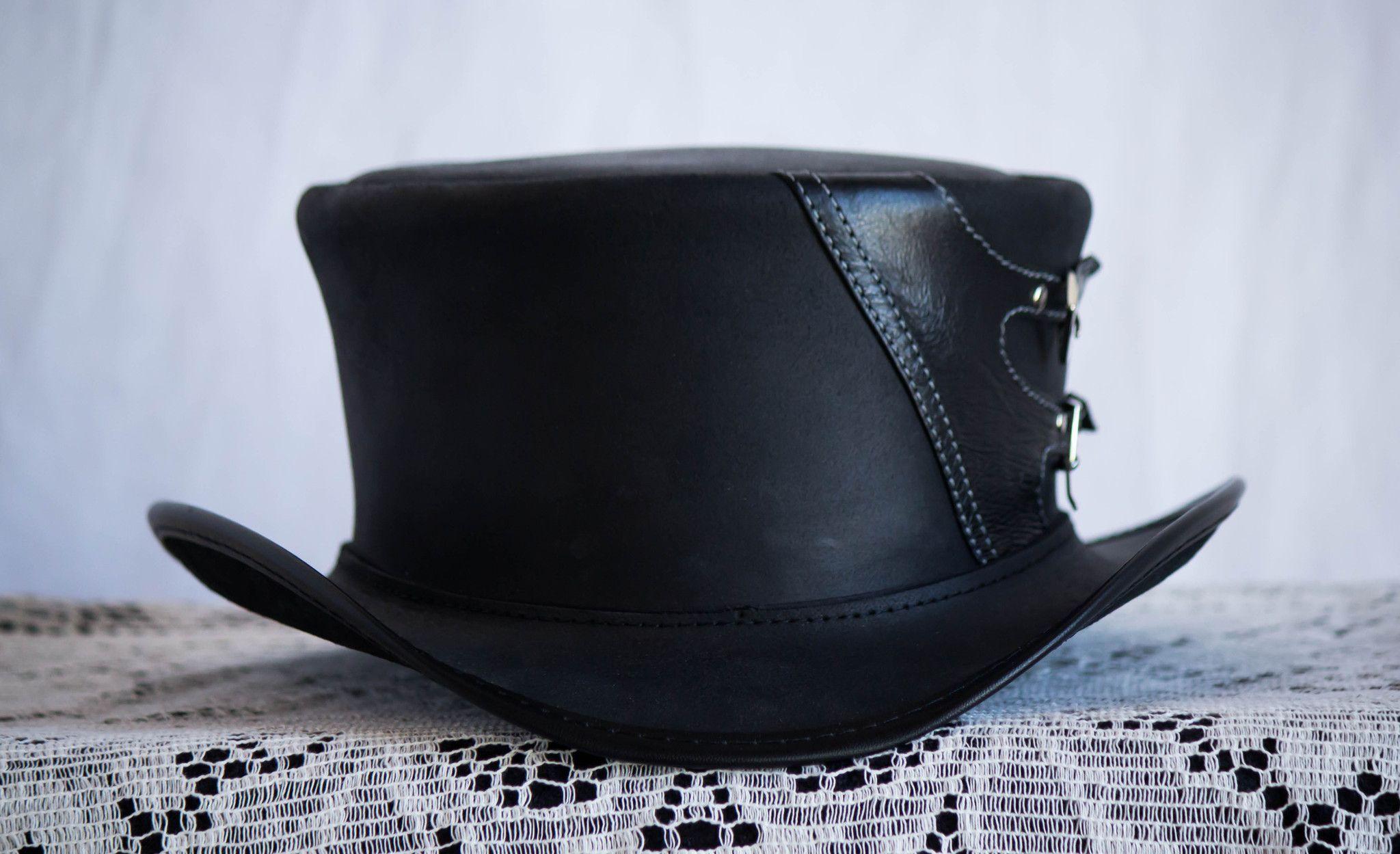 158c93d7721 Deuce Classic Black Leather Top Hat