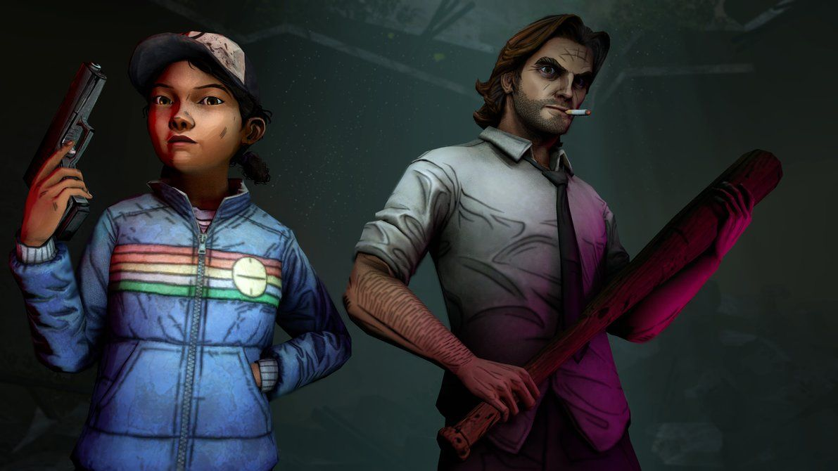 Clem And Bigby They Coming For You By Egarshan On Deviantart Walking Dead Art The Walking Dead Telltale The Wolf Among Us