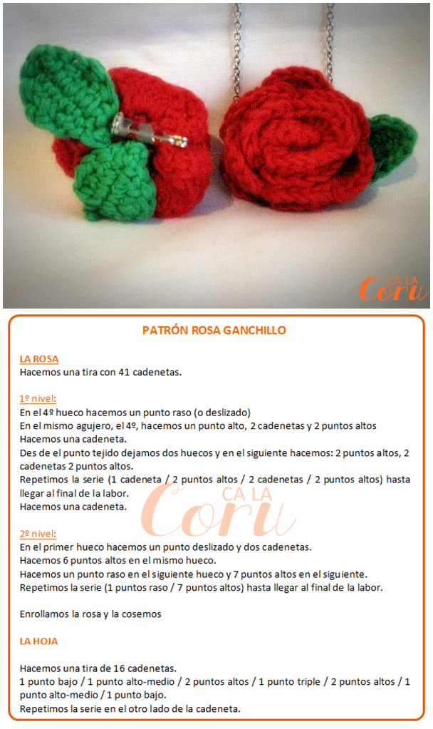 ca la coru: Patrón rosa ganchillo | Ganxet / Crochet | Pinterest ...