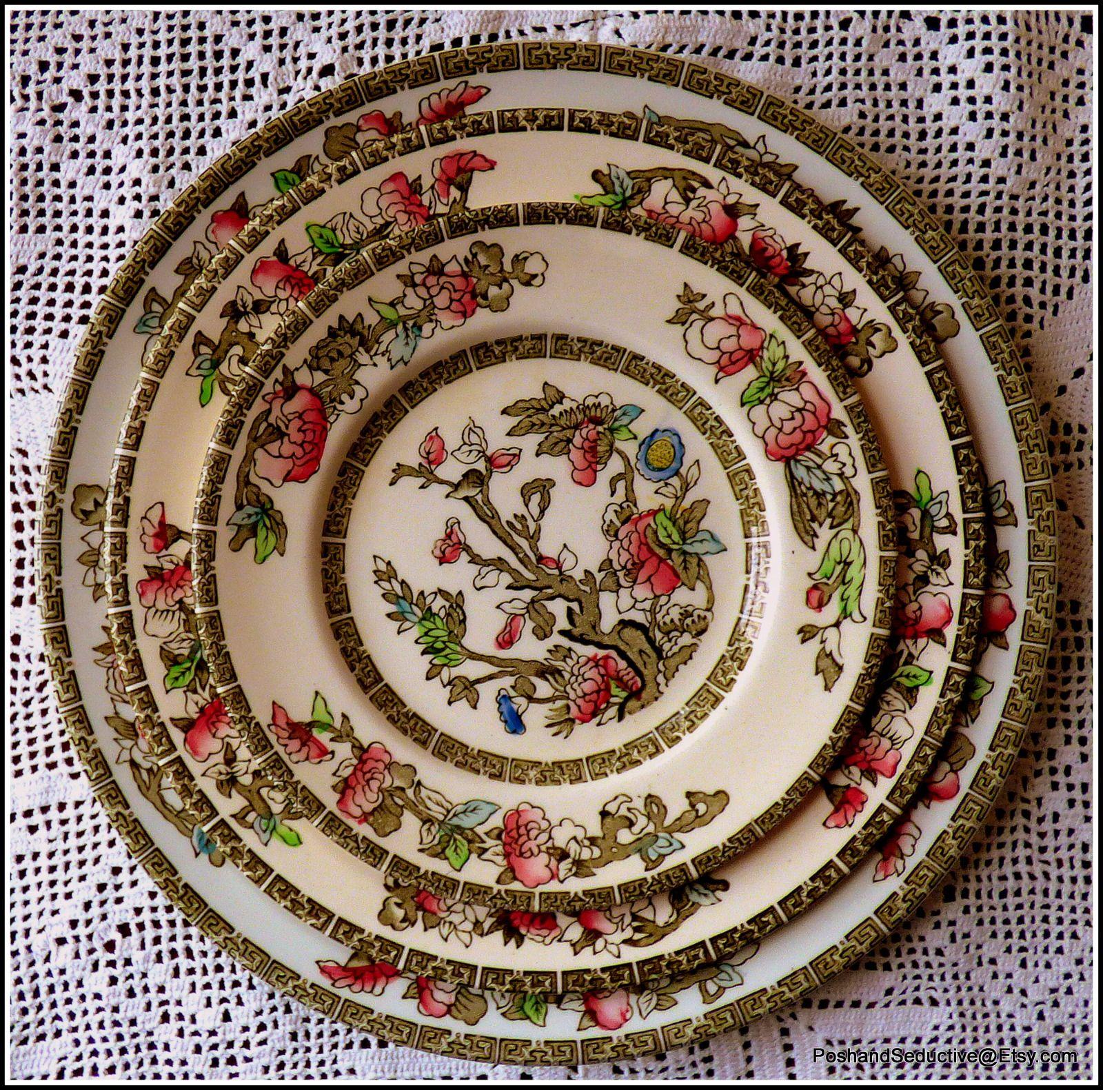 Famous China Patterns johnson brothers' famous indian tree pattern plates circa 1940