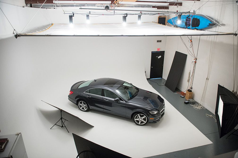 my first studio car shoot plus behind