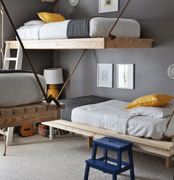 Love these floating beds (via opal never shouts)