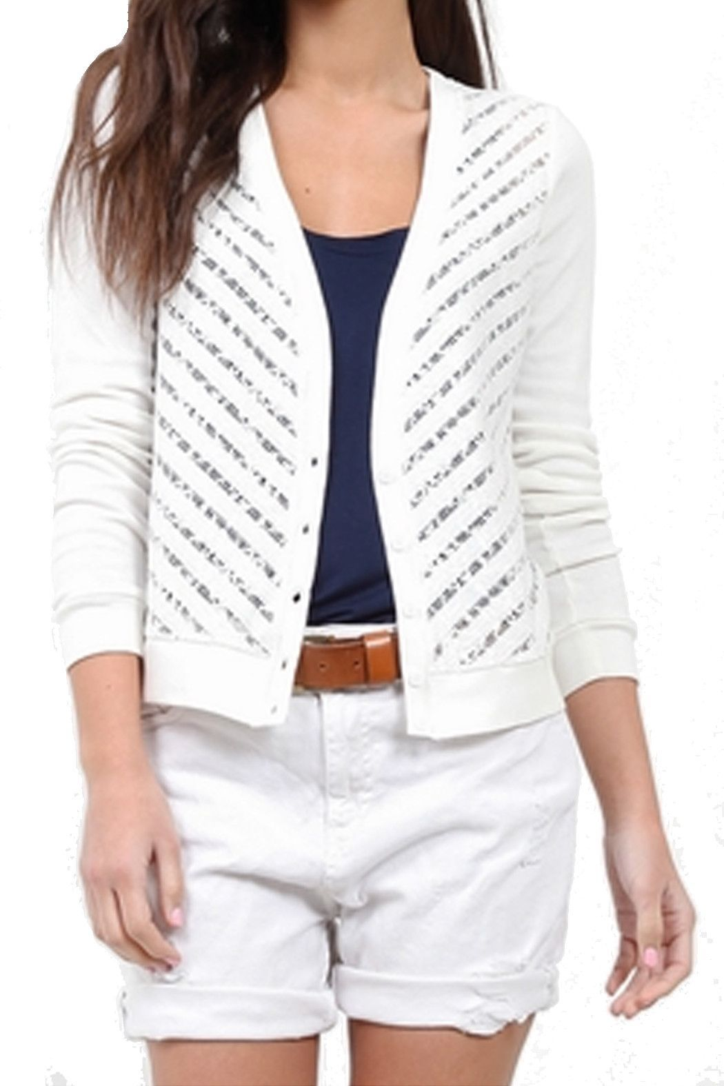 Three Dot Lace Crop Cardigan Sweater | Cardigans For Men | Pinterest
