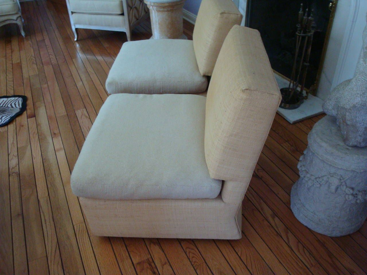 Tremendous Billy Baldwin Vintage Raffia Slipper Chairs Arm Chairs Theyellowbook Wood Chair Design Ideas Theyellowbookinfo
