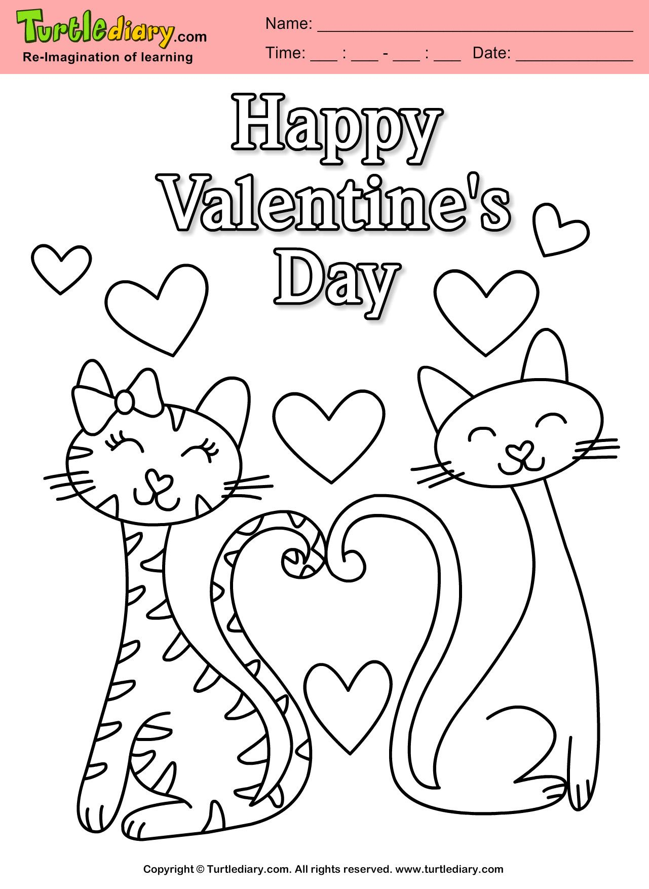Valentine Day Coloring Pages New Coloring Happy Valentines