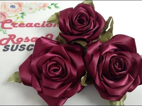 ROSAS DE LISTON VIDEO no. 735 creaciones rosa isela #ribbonflower