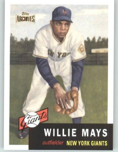 2012 Topps Archives Reprints 244 Willie Mays New York Giants Gold Stamped Baseball Cards Willie Mays Baseball Card Values