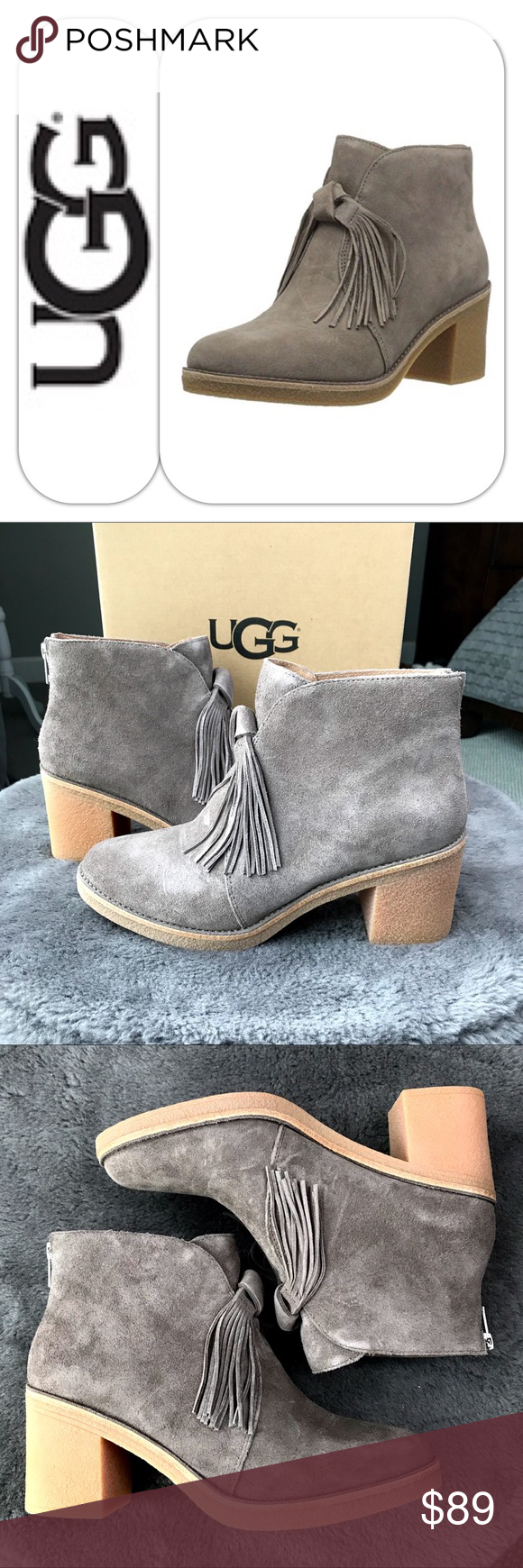 UGG Corin Fringe Bootie Super cute and comfy bootie with fringe from UGG. These soft suede ankle boots will pair perfectly with a chunky sweater and your favorite skinny jeans. ½