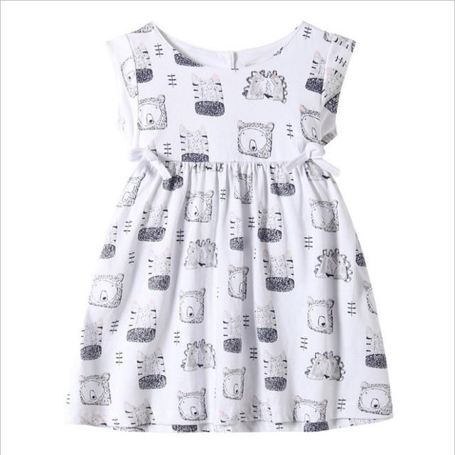 52885d2173e71 2-7T Baby girls summer dresses cute hot children clothes all print ...