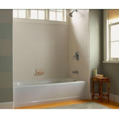 Steel Tub, American Standard Princeton 5 Ft. Right Hand Drain Bathtub In  White 2391.202.020   The Home Depot