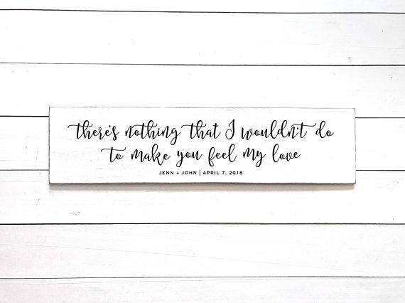 To Make You Feel My Love Sign Adele Lyrics Wedding Song Gift