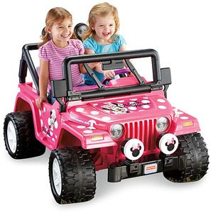 4eaa1d1cbcbe3 Fisher-Price Power Wheels Girls  Disney Minnie Mouse Jeep 12-Volt  Battery-Powered Ride-On