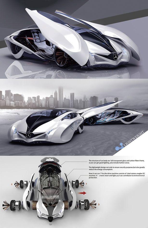 Dolphin Concept Car Is The Third Winner Of Michelin Design Challenge 2013 It Reflects The Principle Of Futuristische Voertuigen Toekomstige Auto Voertuigen