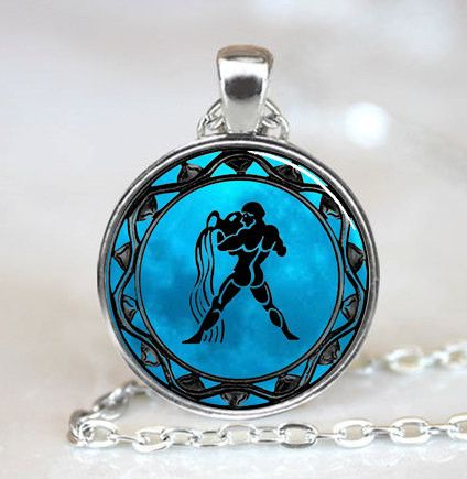 Blue Moon Zodiac Pendant