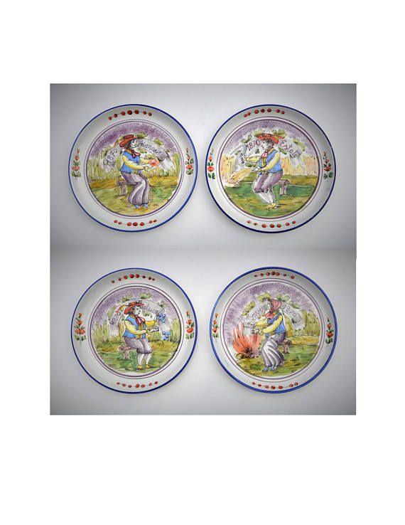 Italian \'Four Seasons\' Harvest Decorative Wall Plates | China and ...