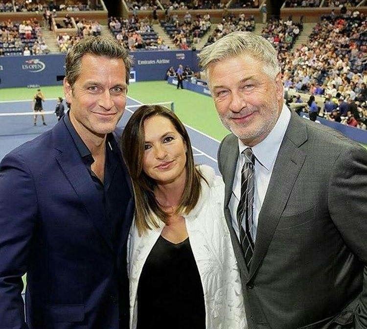 Mariska, Peter And Alec Baldwin  Us Open  Tv Stars -4635