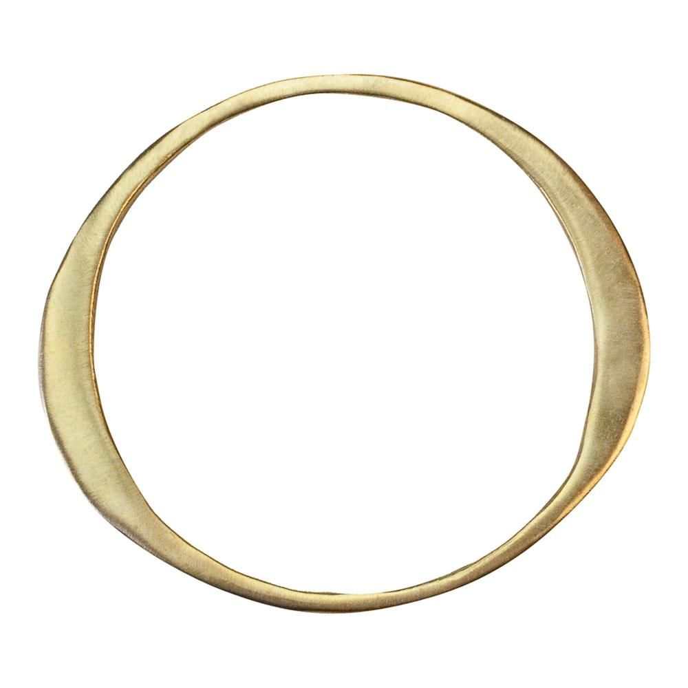 "Kendall Conrad TAPERED BANGLE II In solid brass. Dimensions : 2.5"" Diameter"