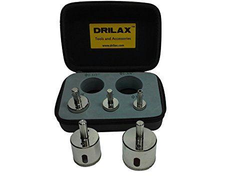 3 Pcs Diamond Drill Bit Set 1//4 1//2 3//4 inch Holesaw Set Lot Glass Granite Tiles