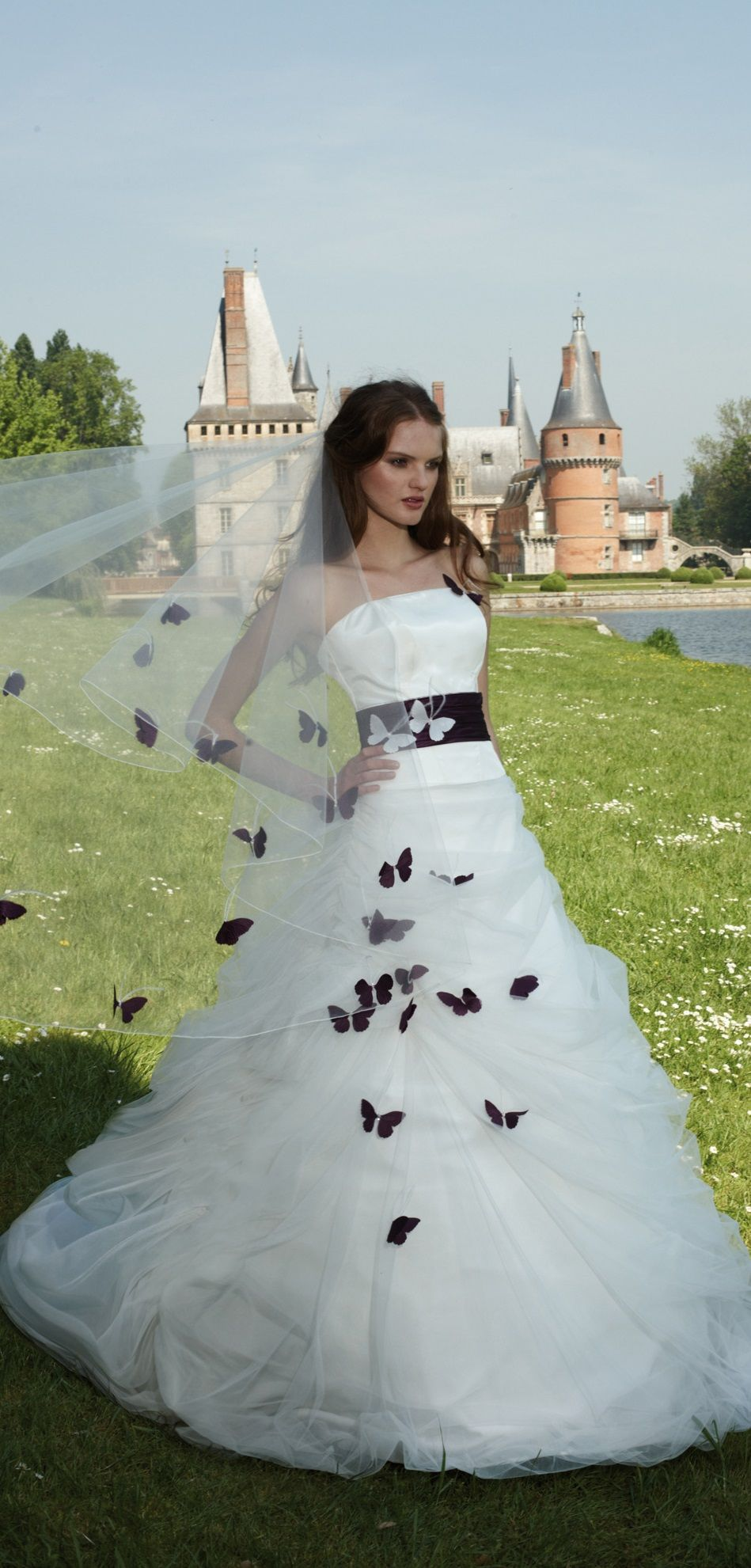 Princess Wedding Dress With Butterfly Accents By Sacha Novia Princess Wedding Dress Dresses Gorgeous Gowns [ 1981 x 949 Pixel ]