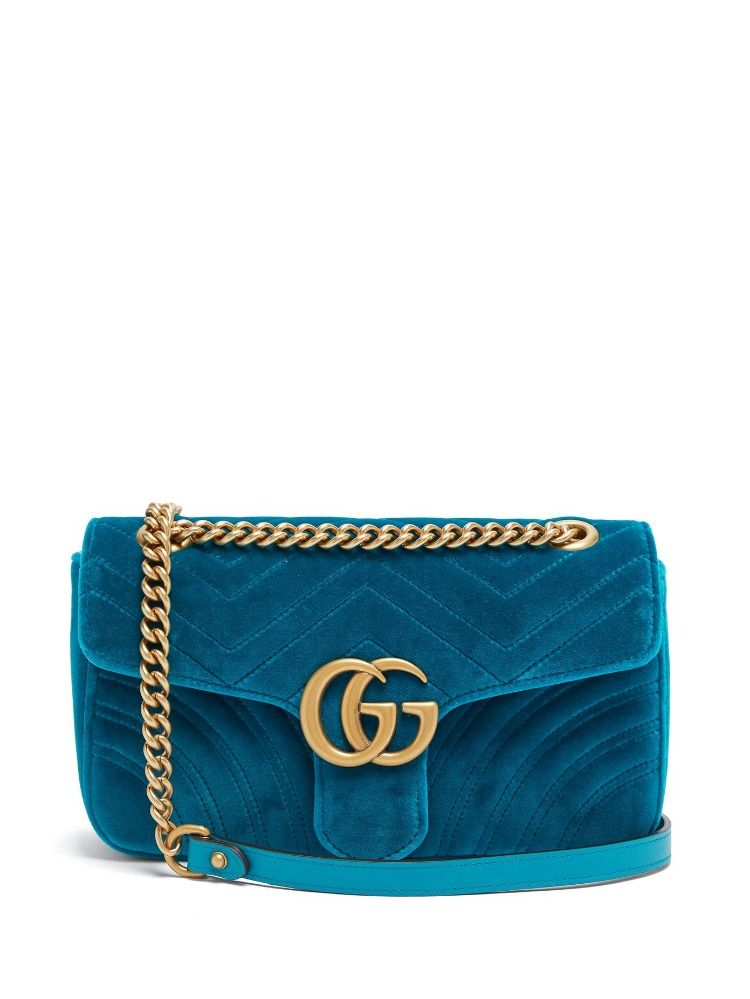 86ada1486213 The GG Marmont is one of Gucci's signature bag, re-worked in petrol ...