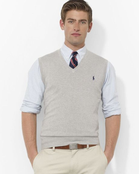 e4af0b84c25a Perfect wedding guest outfit for the guys. Love this  Polo Pima Cotton  Sweater Vest  Lyst