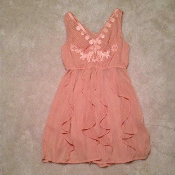 Peach colored dress :)