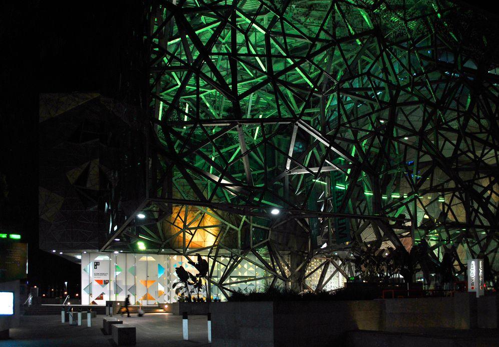 'Green Steel'. Federation Square, Flinders Street, Melbourne. © G.C. Campbell.
