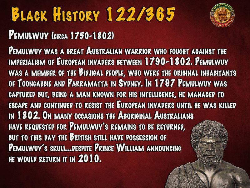 BH 122 Black history, Black person, History