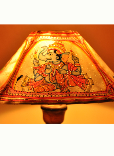 Phad Painting India Table Lamp Anchorage Called Art