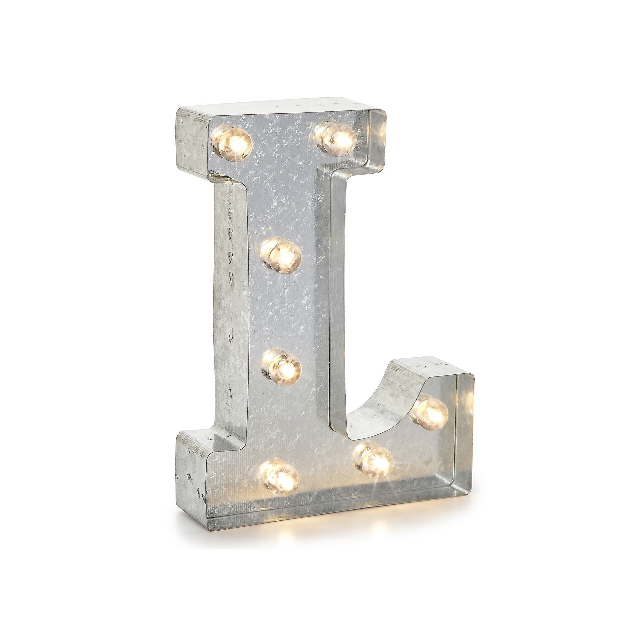 Darice Silver Lighted Marquee Letter | Light up marquee