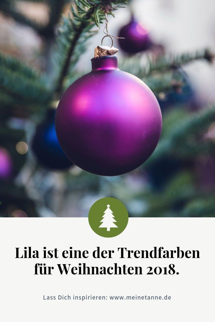 Lila ist eine der trendfarben an weihnachten 2018 in unserem shop findest du viele - Christbaumkugeln lila ...