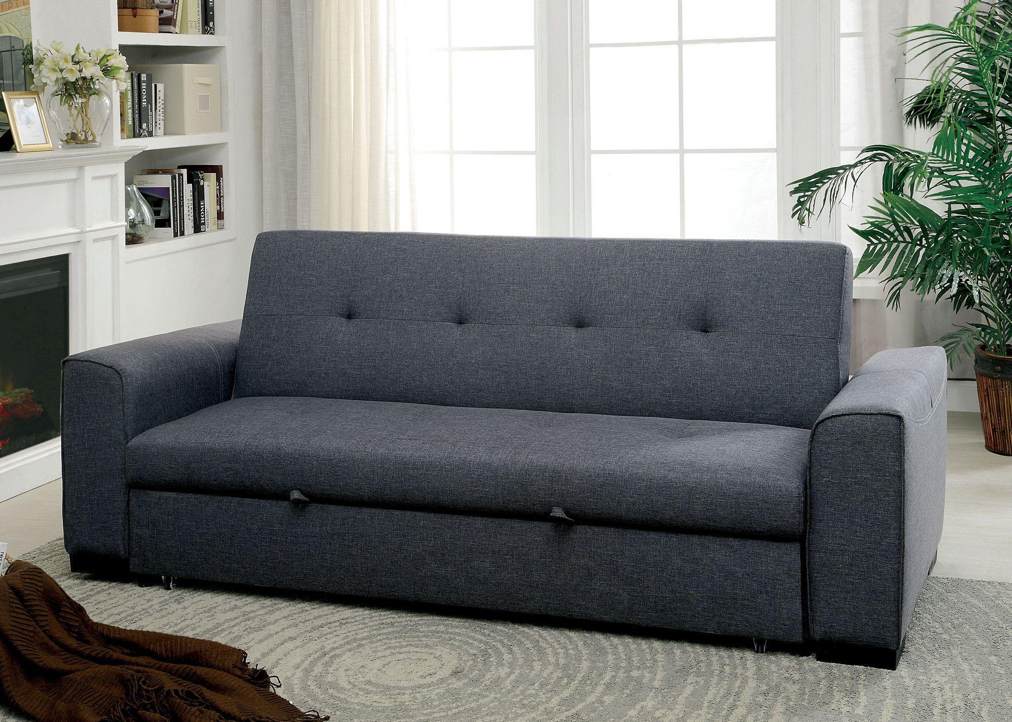 Randy pull out sleeper futon convertible sofa futuristic sofas