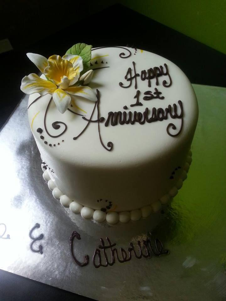 Cake Designs For 1st Wedding Anniversary : 1st Anniversary Cake Anniversary Cakes Pinterest ...
