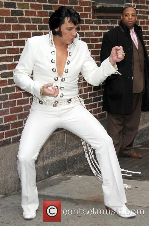 The Late Show With David Letterman Celebrities Elvis Impersonator Elvis 68 Comeback Special Elvis