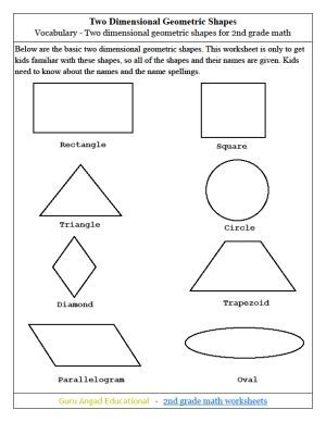 Image Result For Common Core 2nd Grade Geometry Free Worksheets 2nd Grade Math 2nd Grade Math Worksheets Geometry Worksheets
