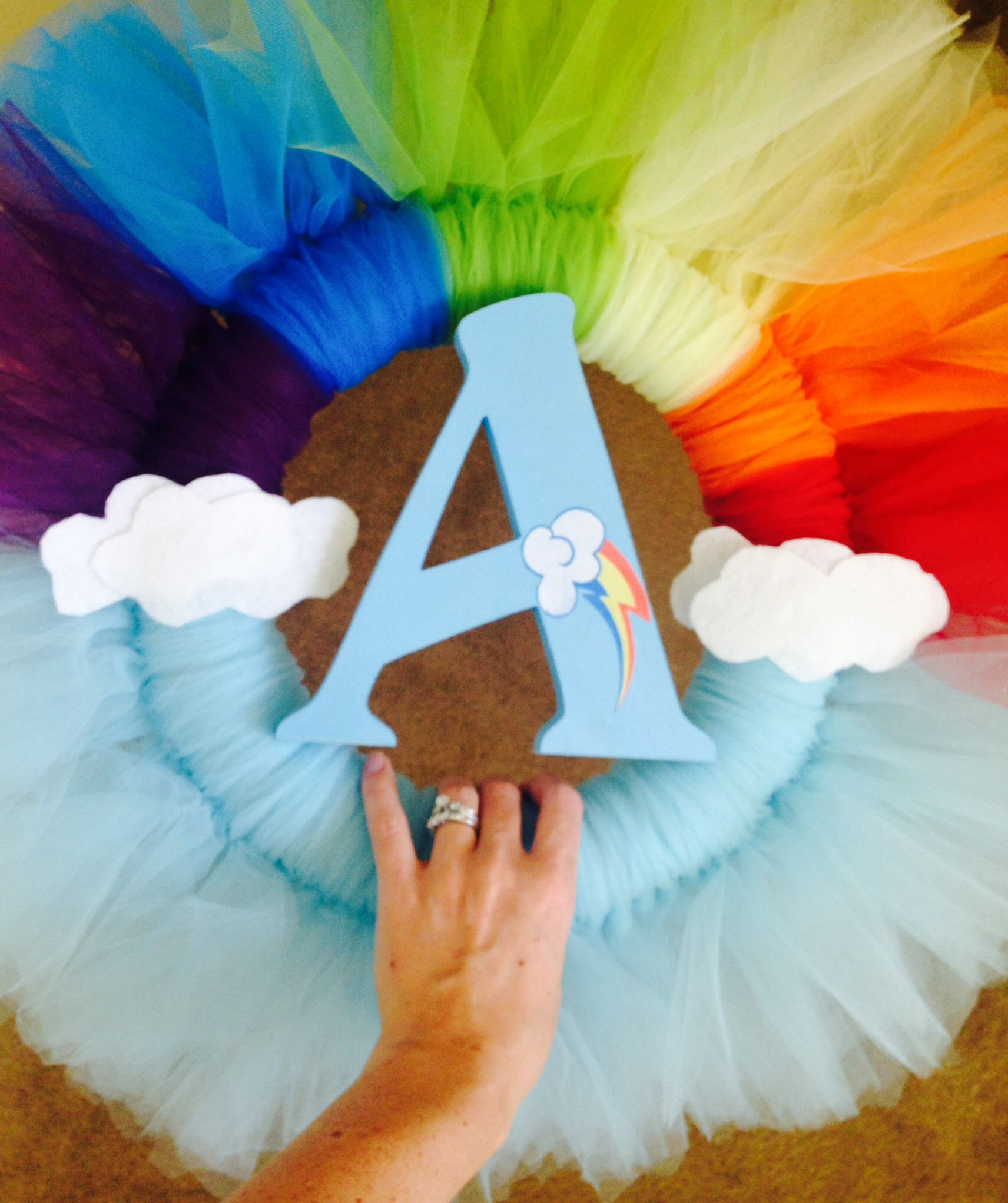 My little pony rainbow dash wreath my crafts for My little pony craft ideas