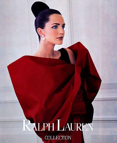 1988 Ralph Lauren Saffron Aldridge Bruce Weber MAGAZINE AD