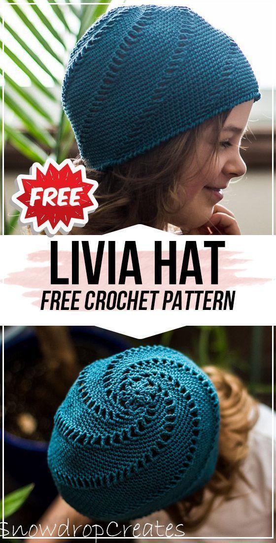 crochet Livia Hat free pattern -