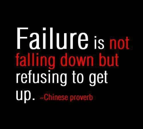 Failure is not falling down, but refusing to get back up. http://www.beadominator.com/