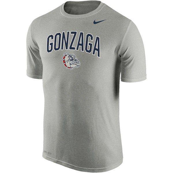 78c7b129d50b Men s Nike Heathered Gray Gonzaga Bulldogs Arch Over Logo Performance T- Shirt