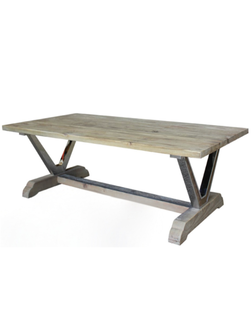 Industrial Styled Oak Coffee Table – Allissias Attic & Vintage French Style