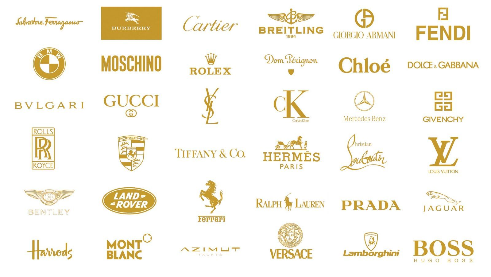 Luxury brand logos | Brands ;) | Pinterest | Wall street ...