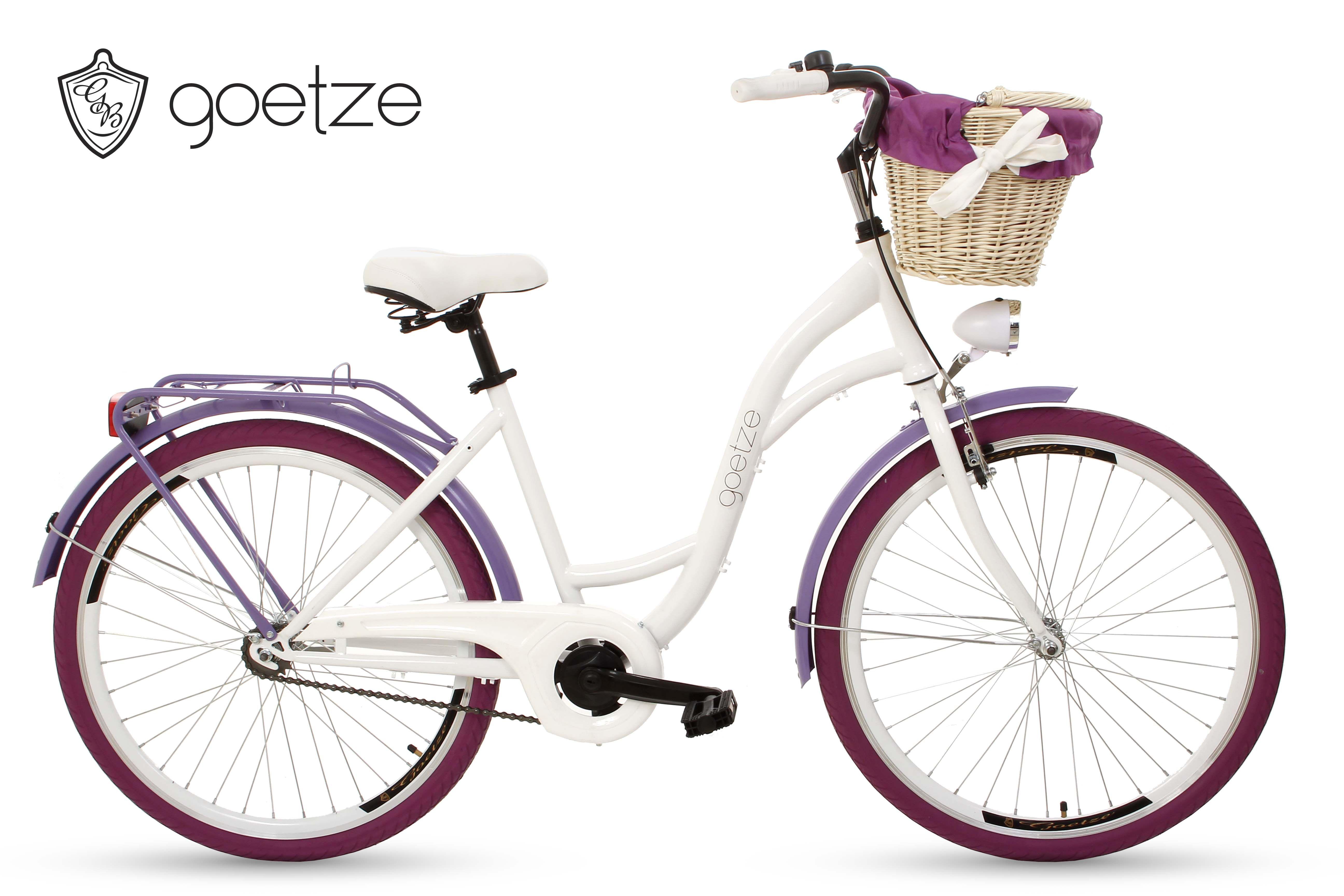 Goetze Fahrrad Direkt Vom Herstellergoetze Style 26 Ein Fahrrad Mit Einem Korb Und Polsterunggoetze Ist Ein Stylisches Citybike Das Damenfahrrad Fahrrad Gotze