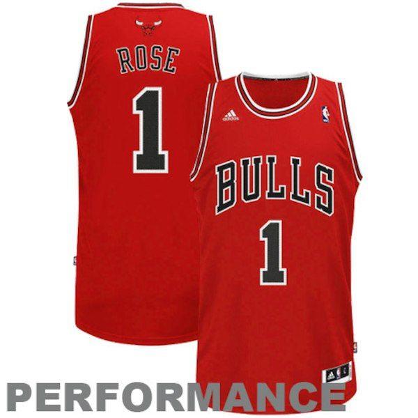 Derrick Rose Chicago Bulls adidas Swingman Road Jersey - Red  ChicagoBulls 88c4793f5