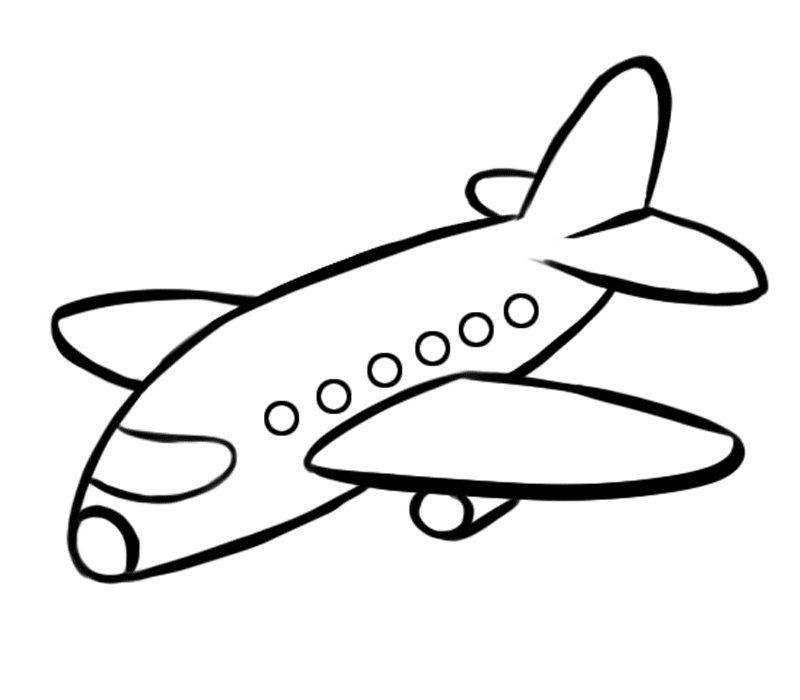 Avión de pasajeros: Dibujos para colorear | Aviones | Pinterest ...