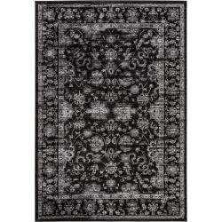 benuta Teppich Velvet Schwarz 200x290 cm - Vintage Teppich im Used-Look benuta #gothichome