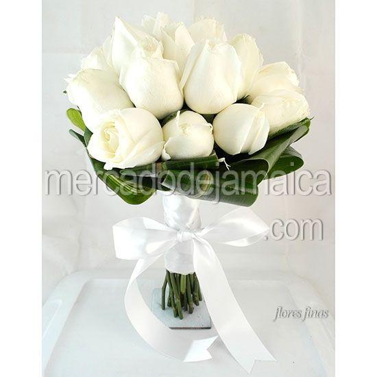 Ramos de novia 24 rosas blancas ramos de novia con rosas - Ramos de calas para novias ...